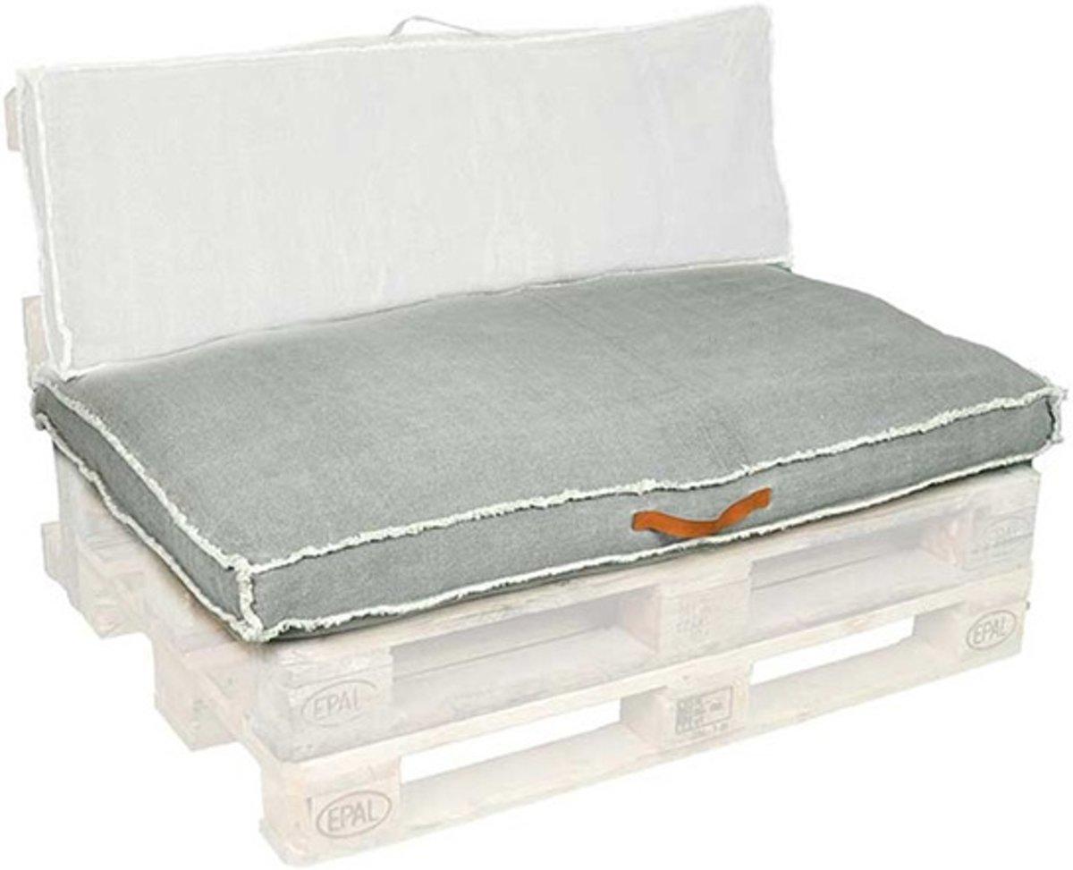 iSleep Noud Palletkussen - 80x120 cm (Zit Deel) - Dark Grey kopen