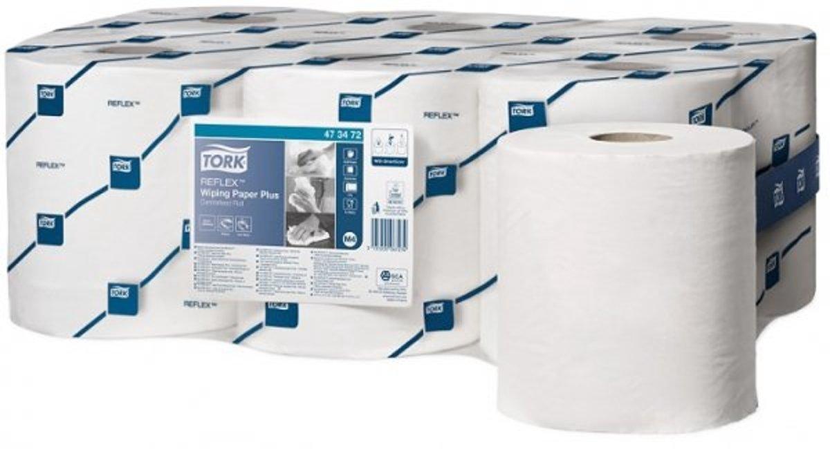 Tork Reflex Wiping Paper Plus Poetspapier Blauw M4 kopen