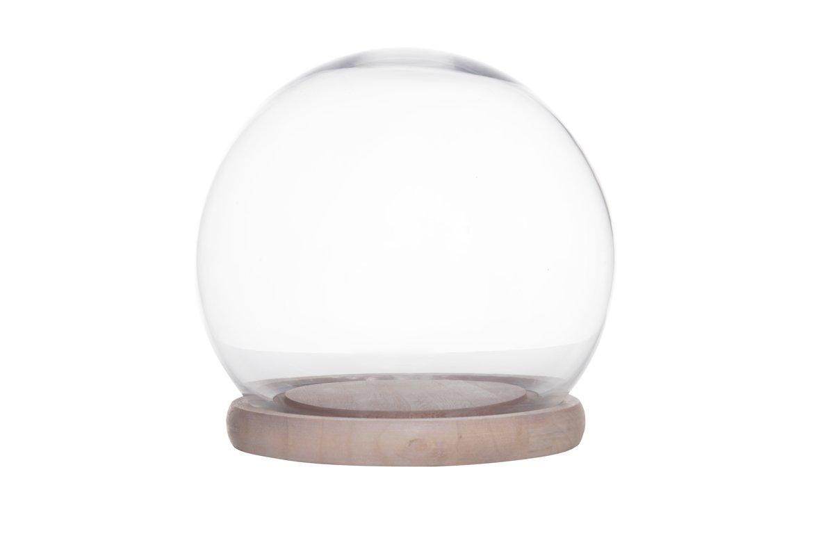 Cosy & Trendy Stolp - Glas Met Basis Hout - Ø 25 cm x 27 cm kopen