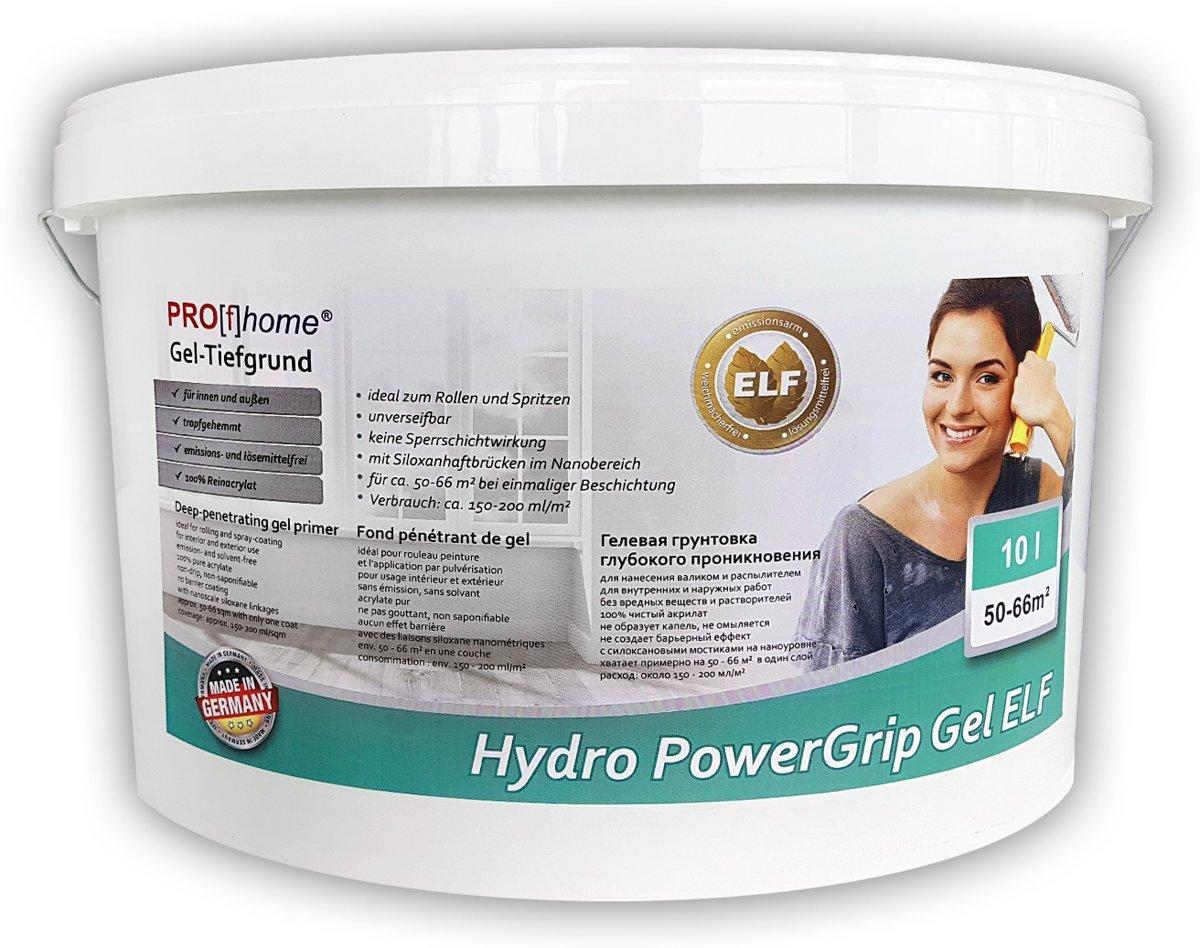 Speciale grondering met nieuwe gel-structuur PROFHOME Hydro PowerGrip Gel Ideale voorbehandeling van de ondergrond 10 l kopen