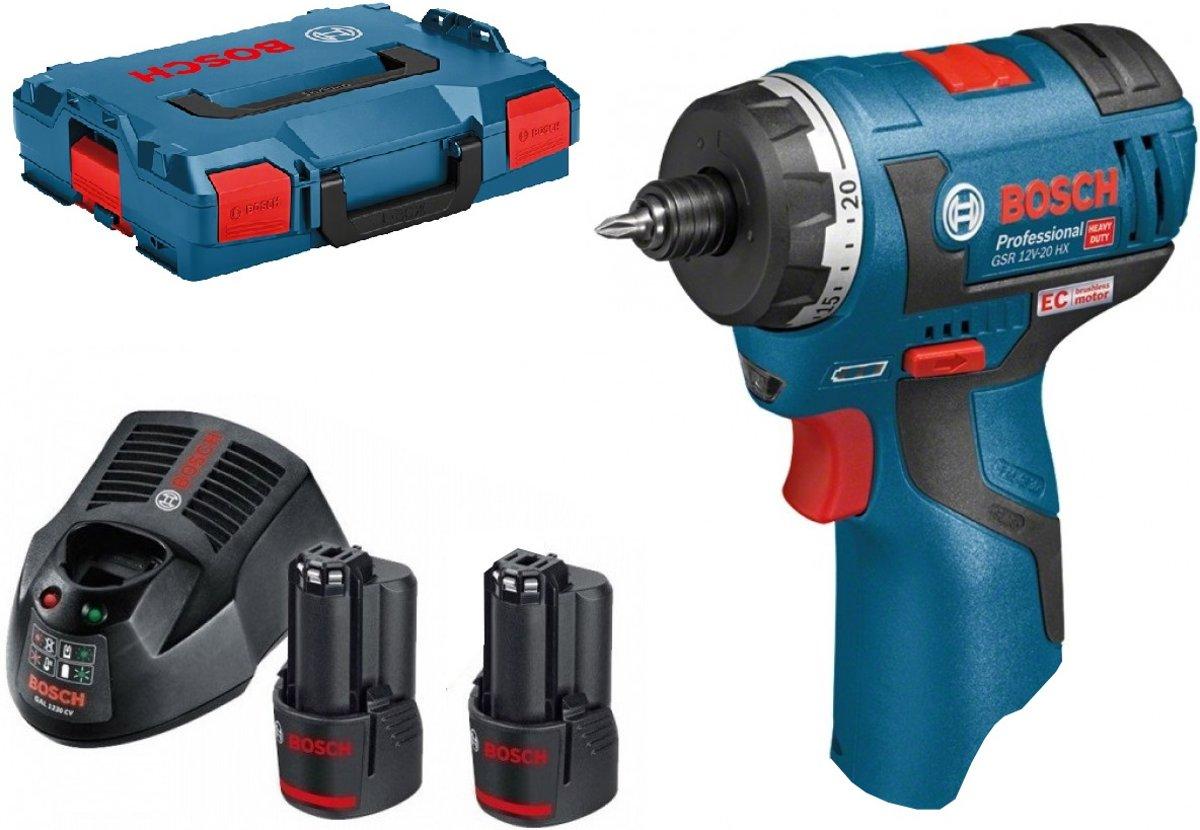 Bosch GSR 10,8 V-EC HX Professional Blau Akkuschrauber 2x 2.0 Ah Akku mit L-BOXX kopen