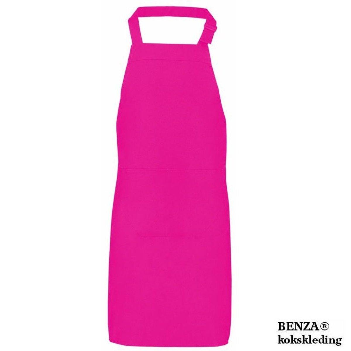 Benza Schort Keukenschort - 70 x 85 cm - Fuchsia / Roze kopen