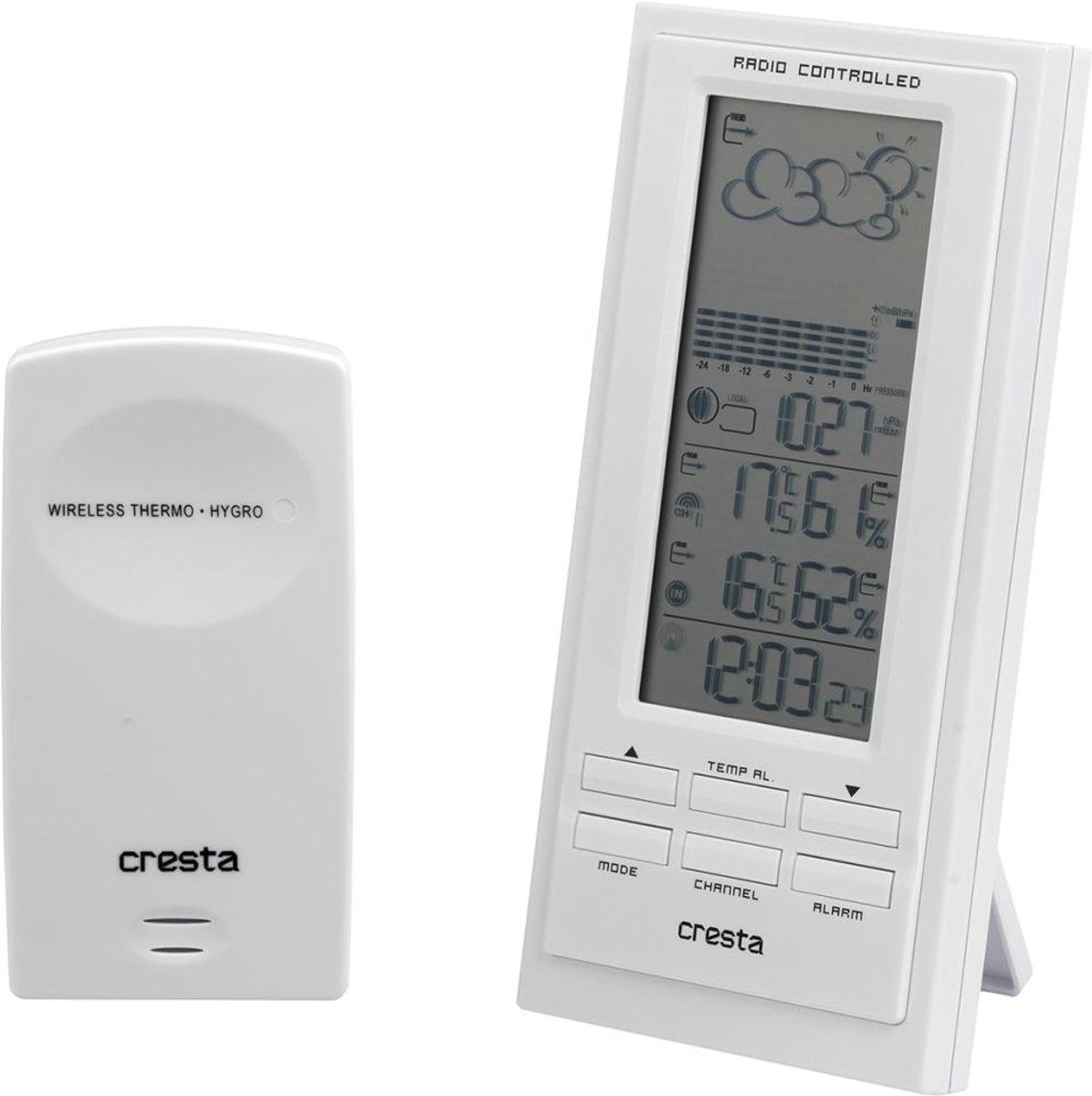Cresta BAR500 - Wit - digitaal weerstation met barometer kopen