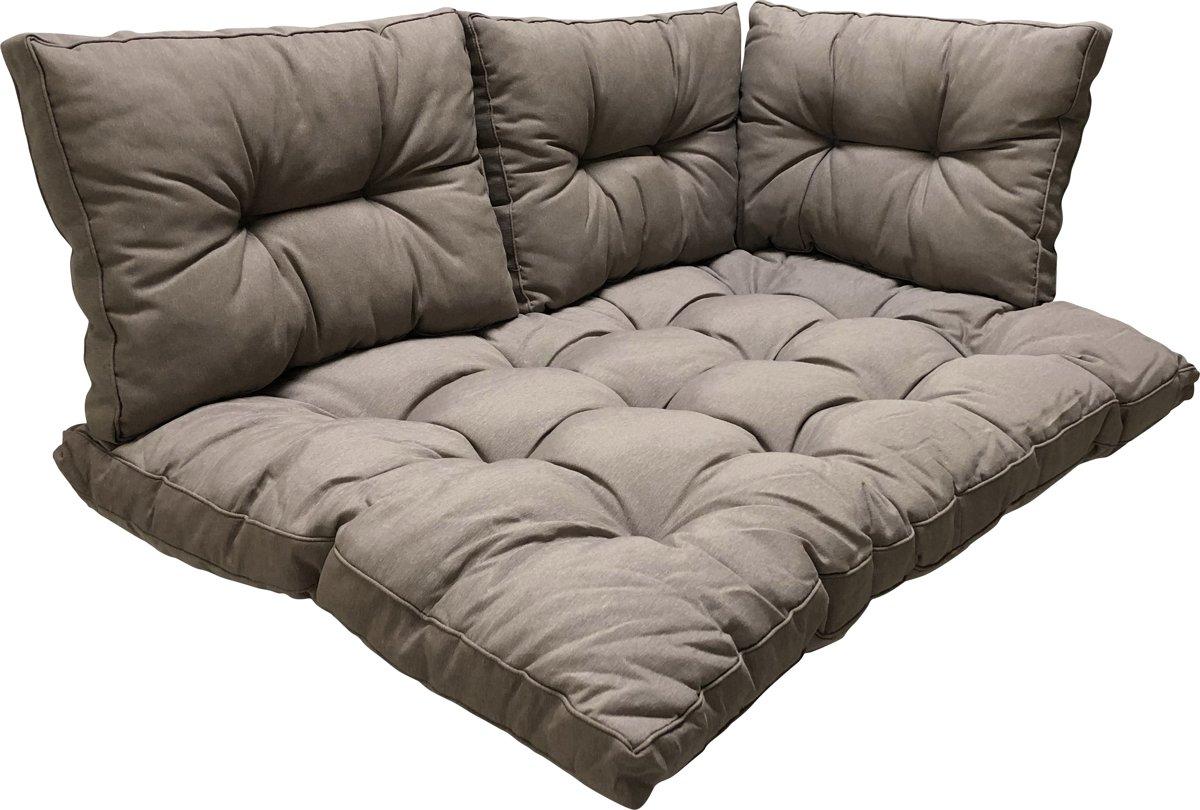 Madison 4-Delige kussenset voor palletbank – Pallet kussen en rugkussens kopen