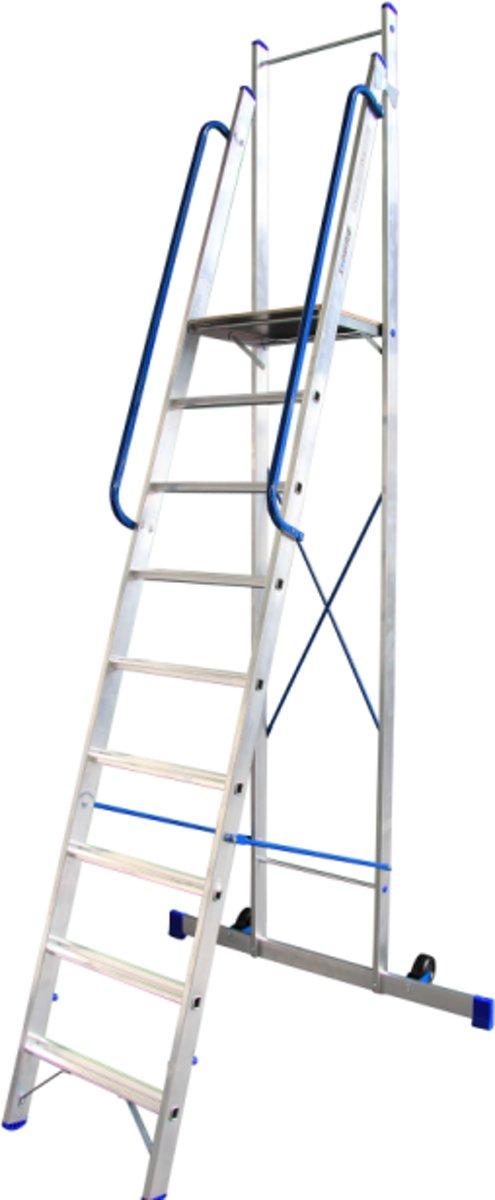 Alumexx Plateau ladder 9 treeds - Met stabiliteitsbalk - Werkhoogte 4.17m kopen