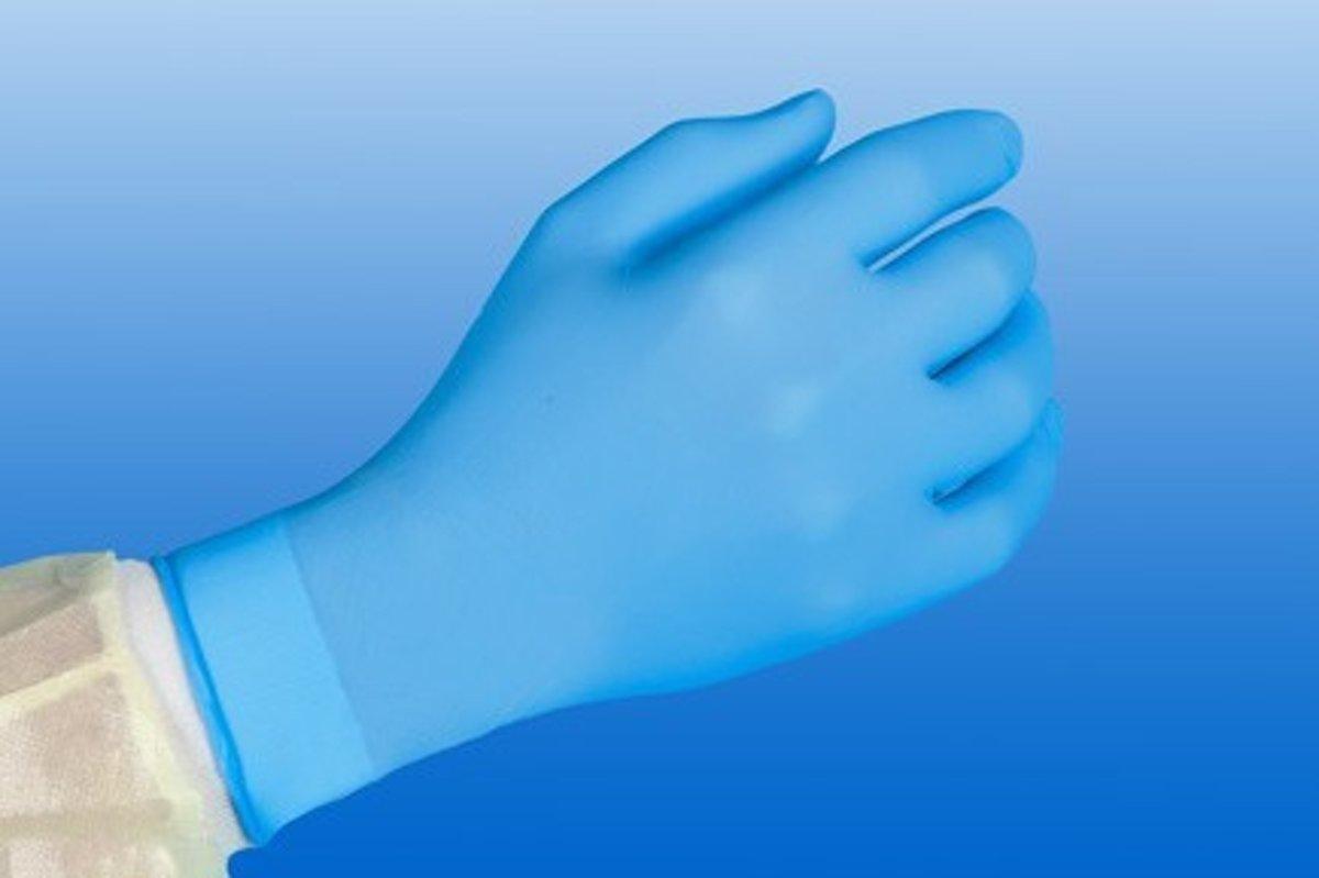 Softnitril handschoenen kleur blauw maat XL.10 doosjes a 100 stuks kopen