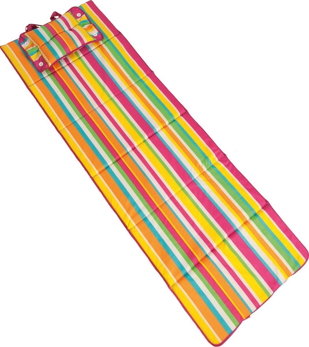 Tiseco strandmat - incl. kussen - 183x61cm kopen