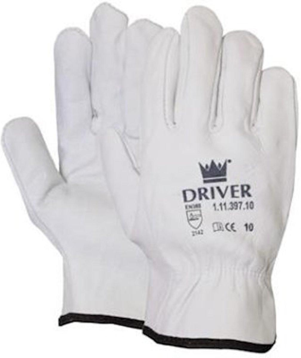 Officiers handschoen India Cat.2 nerflederen naturel maat 10 kopen
