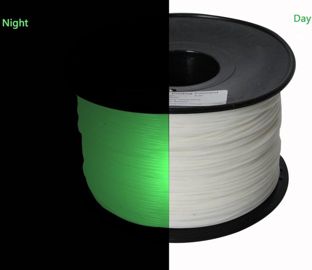 1.75mm oplichtend groen PLA filament 1kg kopen