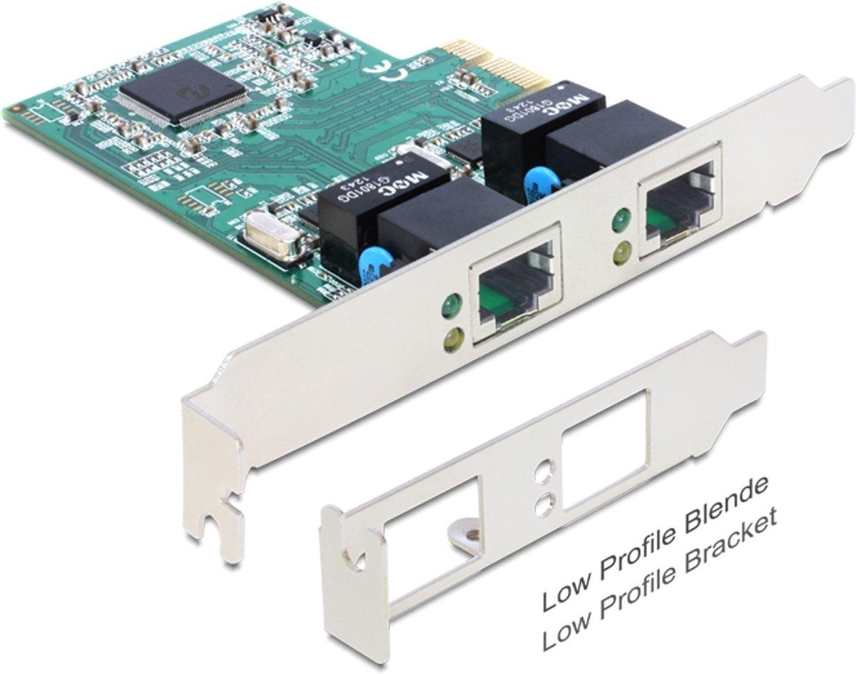 DeLOCK Gigabit PCI-Express kaart - 2x RJ45 kopen