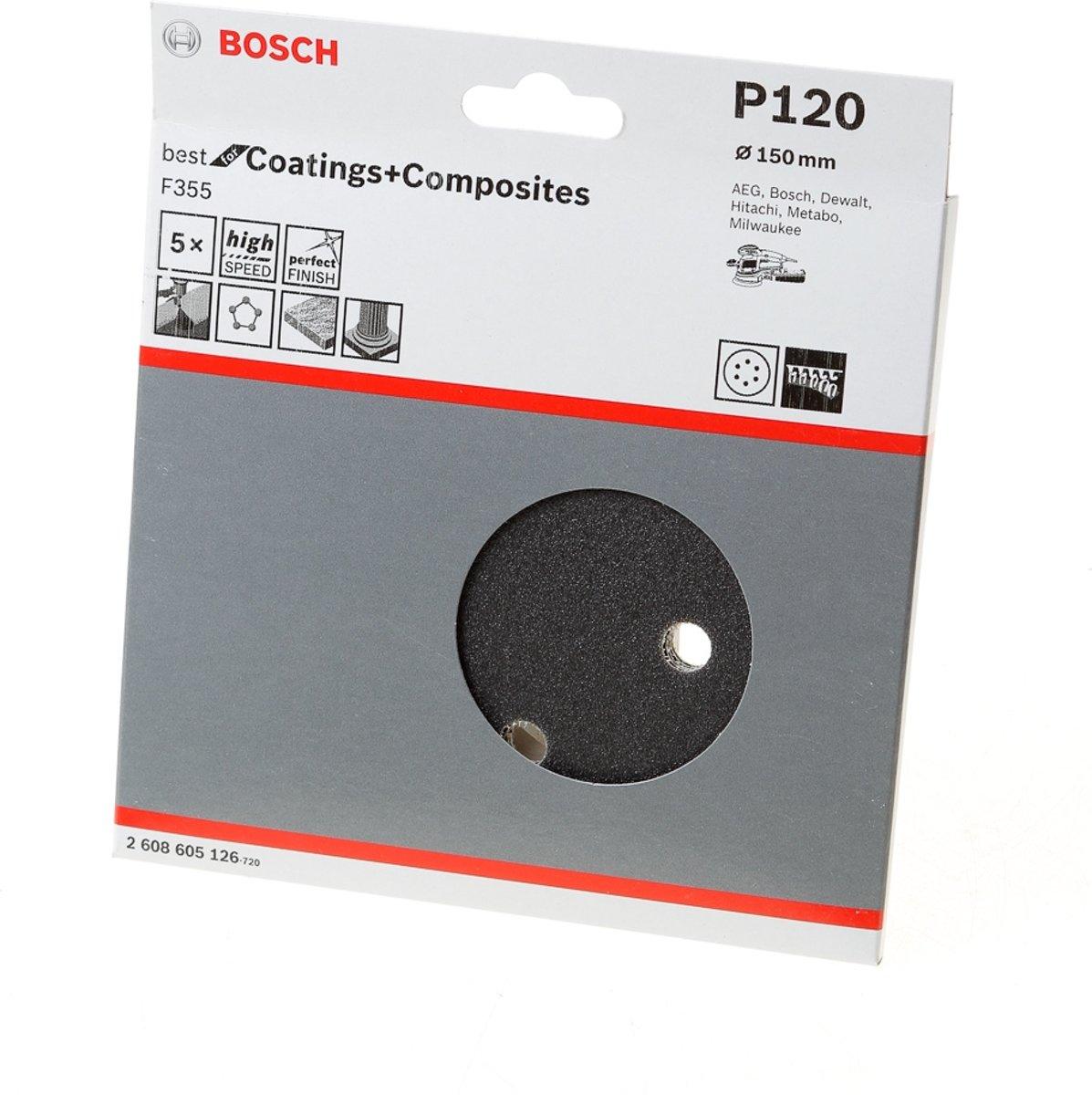 Bosch Schuurschijf coating and composites diameter 150mm K120 blister van 5 schijven kopen