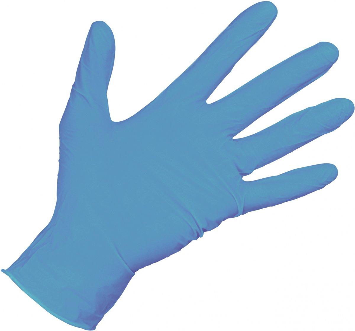Carpoint Wegwerphandschoenen Nitril Gepoederd Per 100 Blauw Maat L kopen