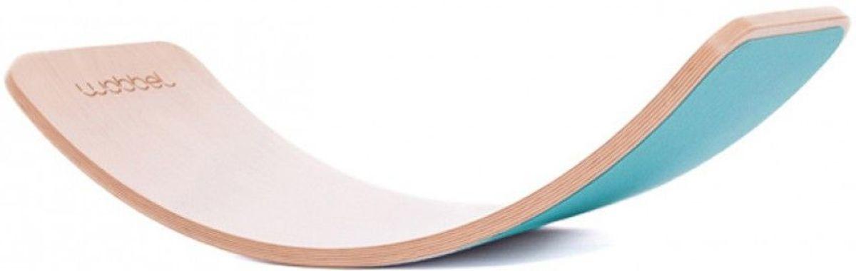 Wobbel Original Blank Gelakt met Vilt - Aqua kopen
