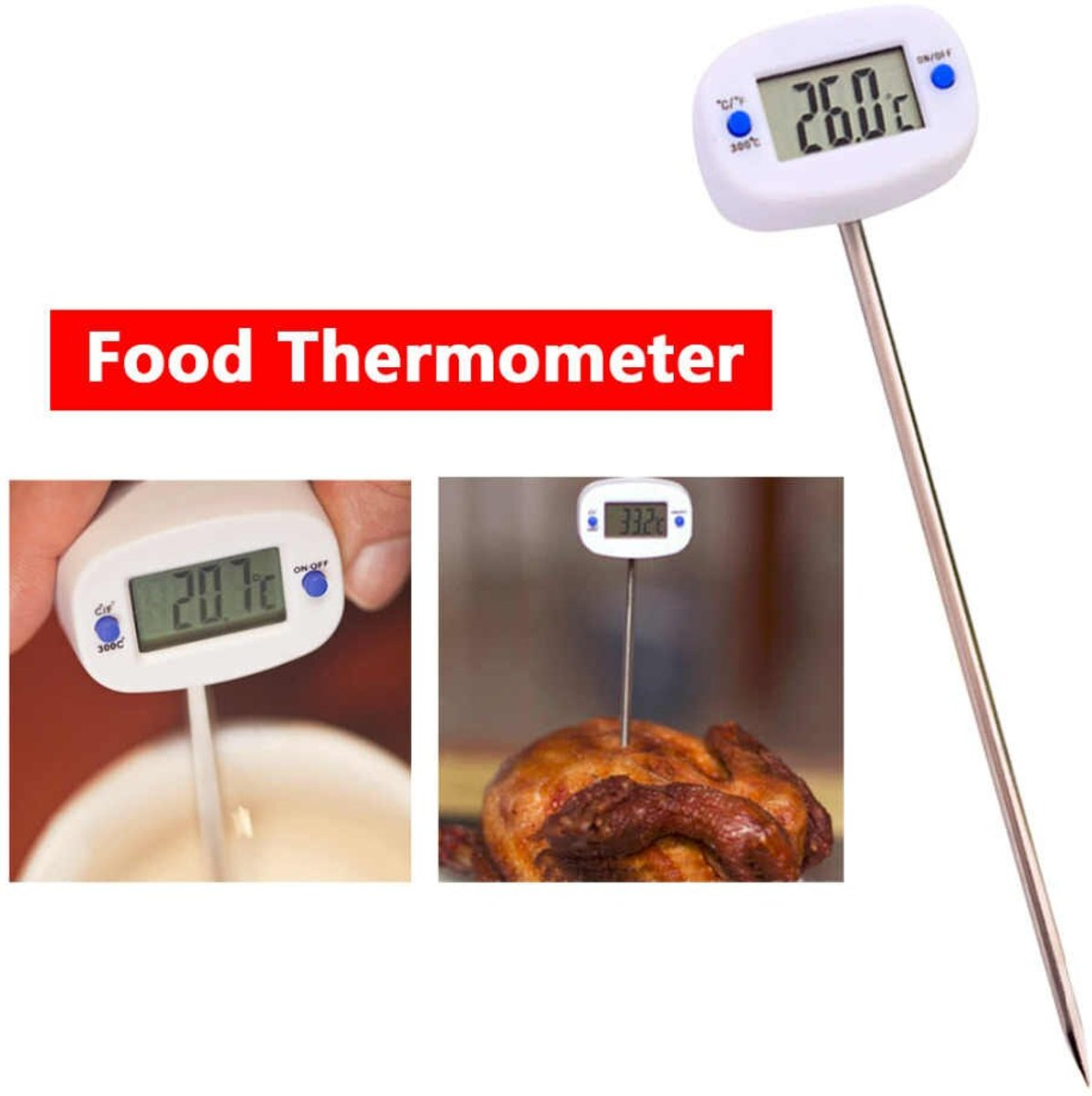 Professionele Digitale Keukenthermometer – -50° tot 300° celcius - Incl. Batterij kopen