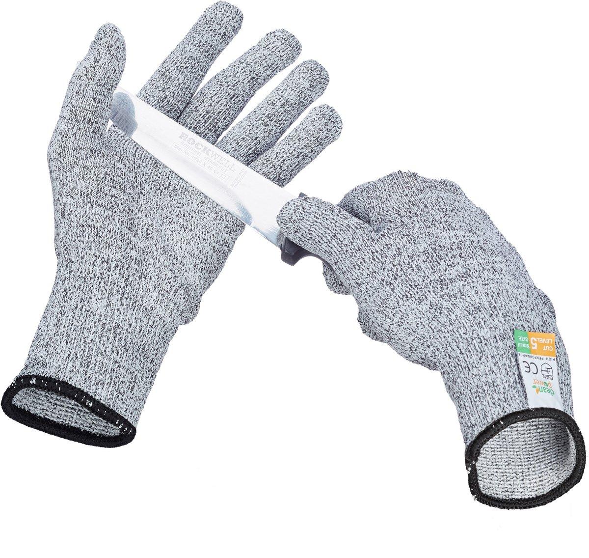 relaxdays anti-snijhandschoenen van nylon - Klasse 5 - EN 388 - snijvaste werkhandschoenen S kopen