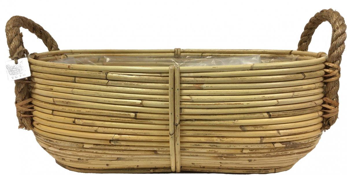 Plantenschaal - ovaal - 50cm - naturel kopen