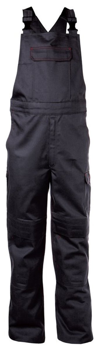 Dassy Dakota Vlamvertragende bretelbroek met kniezakken Zwart maat 50 kopen