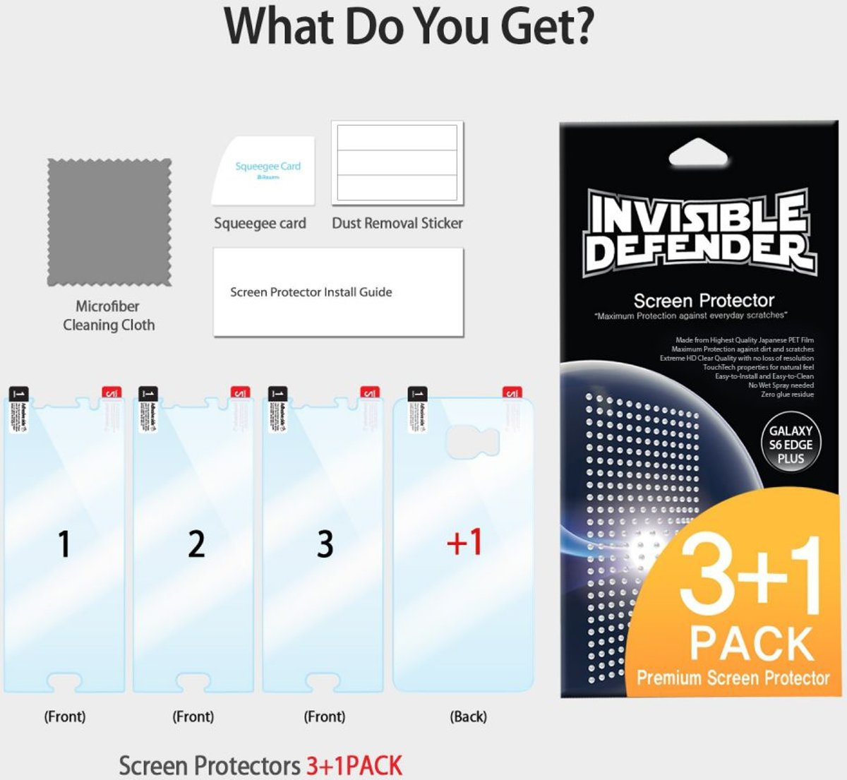 Ringke Invisible Defender Voor Samsung Galaxy S6 Edge Plus Rearth S8 Screen Protector