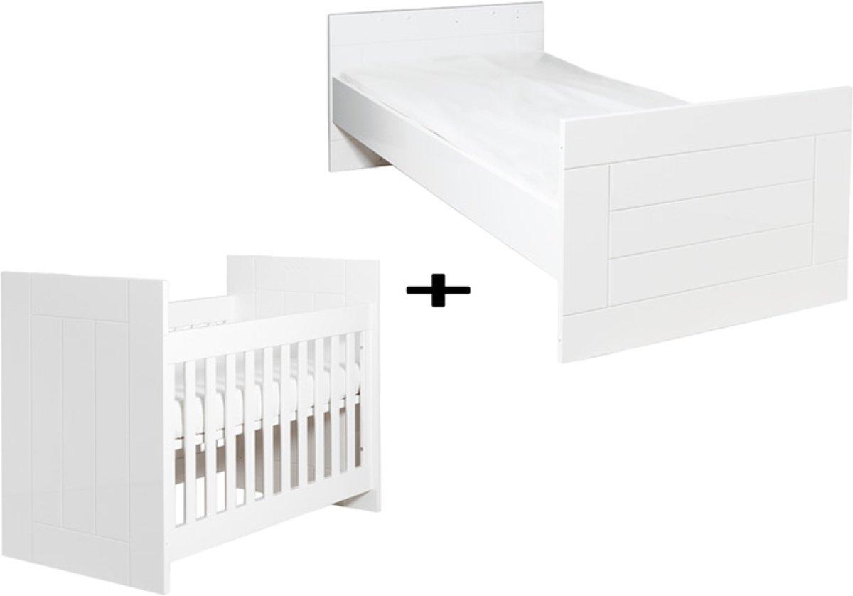 Bopita Manhatten Omvormbaar Bed 60 x 120 / 90 x 200 Wit Hoogglans kopen