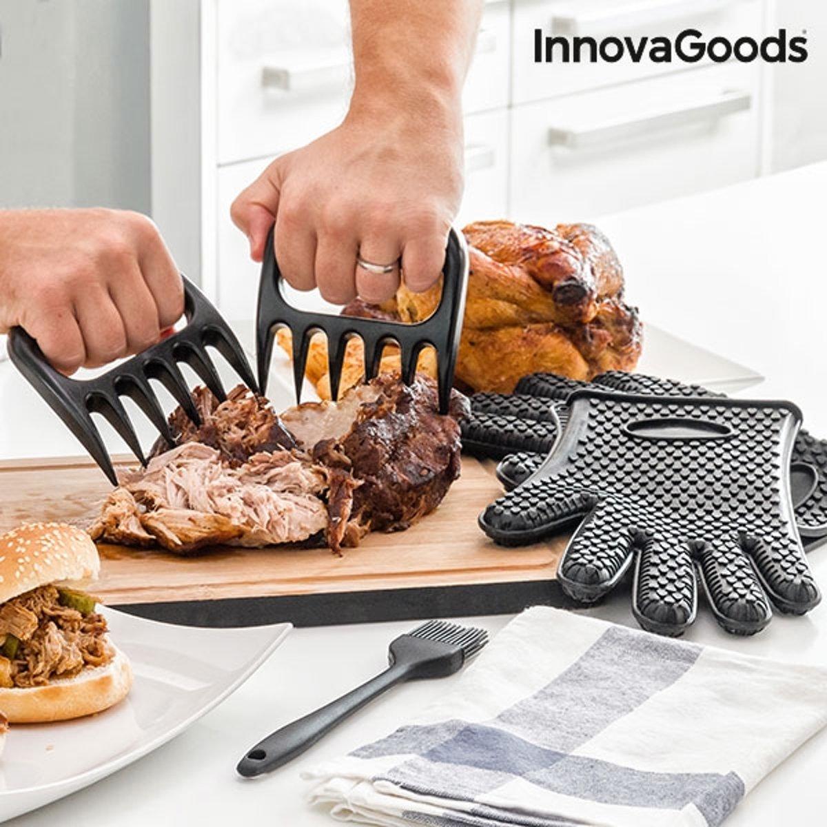 InnovaGoods Kitchen Foodies Vleesklauwen met Handschoenen en Borstel kopen