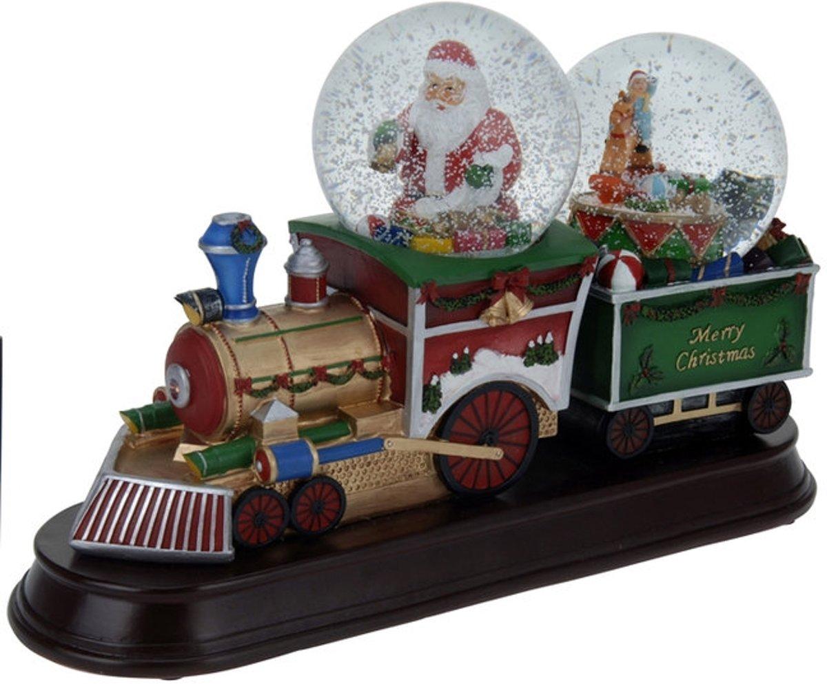 Kersttafereel (kersttrein met 2 sneeuwbollen) kopen