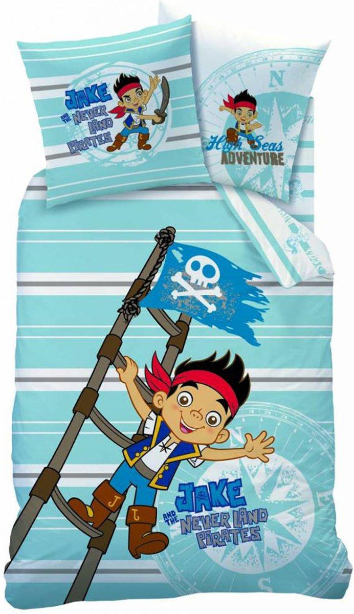 Disney Jake en de Nooitgedachtland piraten - Dekbedovertrek - Eenpersoons - 140 x 200 cm - Blauw kopen