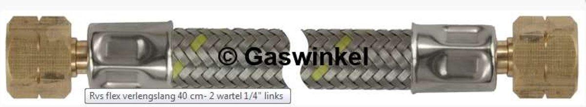 RVS Gasslang gevlochten 1/4 L x 1/4 L 100 cm kopen