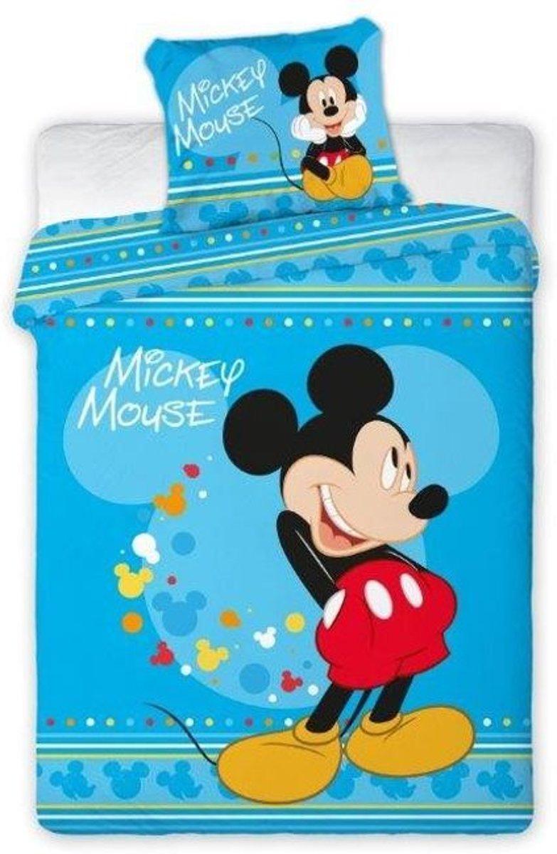 Disney Mickey Mouse dekbedovertrek + kussensloop - eenpersoons - 160x200 cm + 70x80 cm - POLAR FLEECE kopen