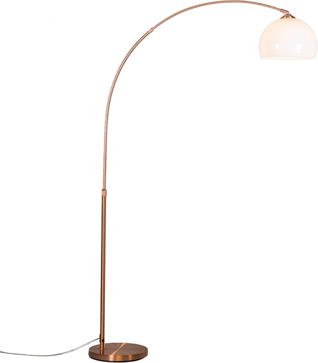 QAZQA Arc Eco - Staande booglamp - 1 lichts - 1200 mm - koper kopen
