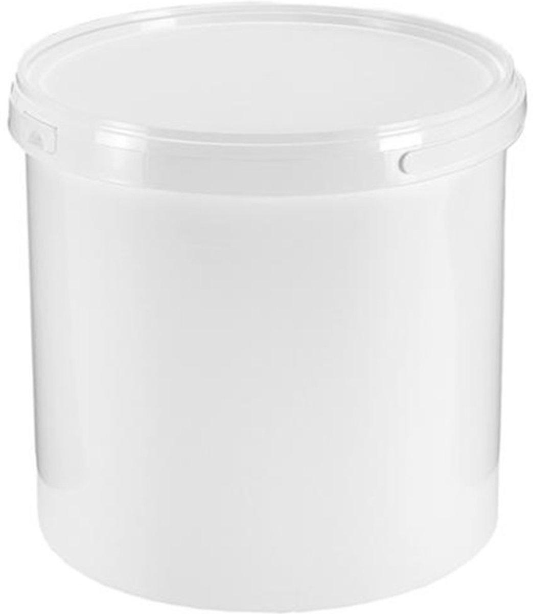Emmer 8,7 liter Ø234mm. Wit met deksel. 6 stuks kopen