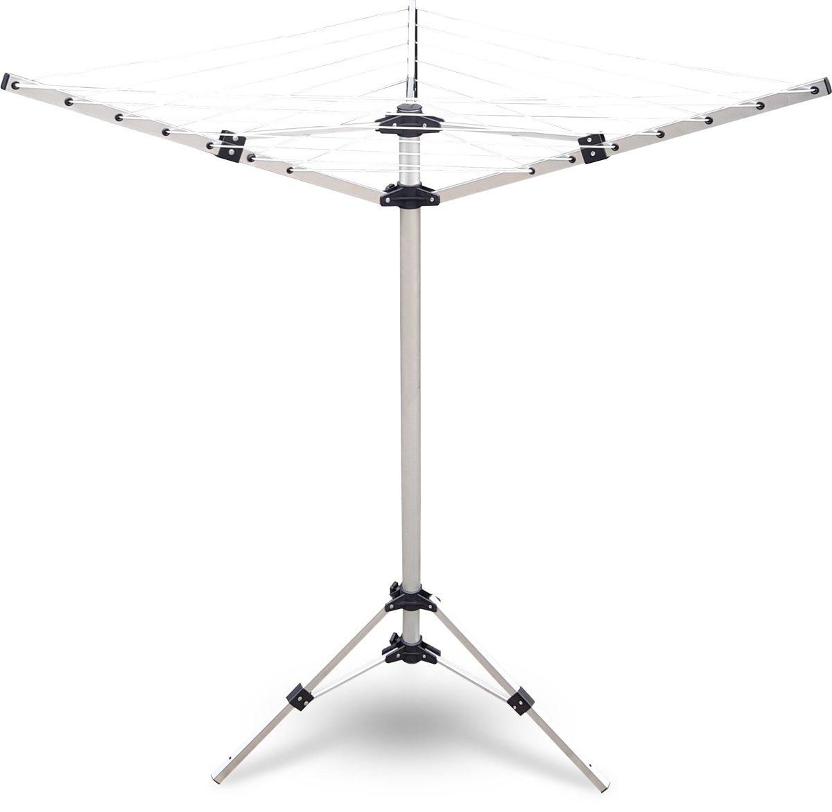 Meisterhome Droogmolen - 18 m lijnlengte - 3 armig - Balkon - Camping kopen