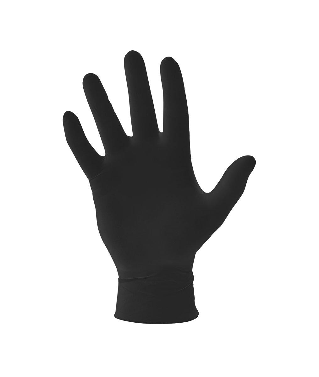 Nitril wegwerphandschoenen ongepoederd XL - zwart kopen