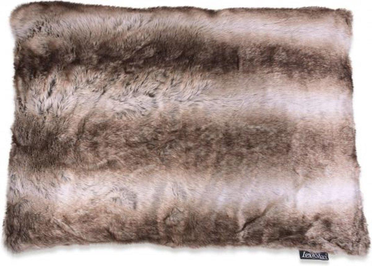 Lex & max royal fur kattenkussen  60x45cm zilvervos