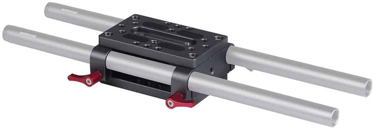 WARAXE 2638 Bevestigingsplaat voor statief met 15 mm stangklem Railblok voor stangsteun / DSLR Rig Cage (zwart) kopen
