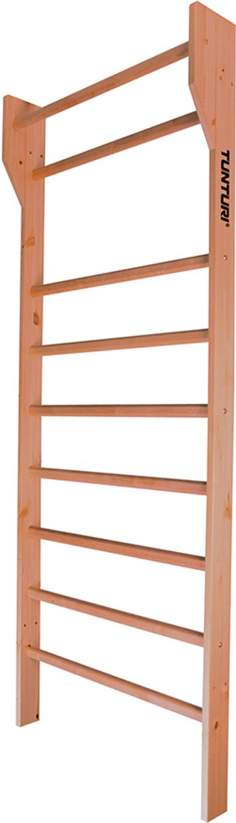 Tunturi Klimrek - Wandrek - Houten wandrek - Wandklimrek - Klimrek hout - 230 x 100 cm - Hout kopen