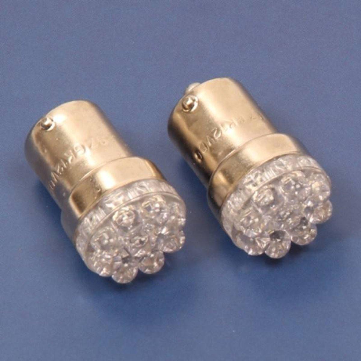 Aanhangwagendirect 2x bol bajonet BA15S 12V 9 LED kopen