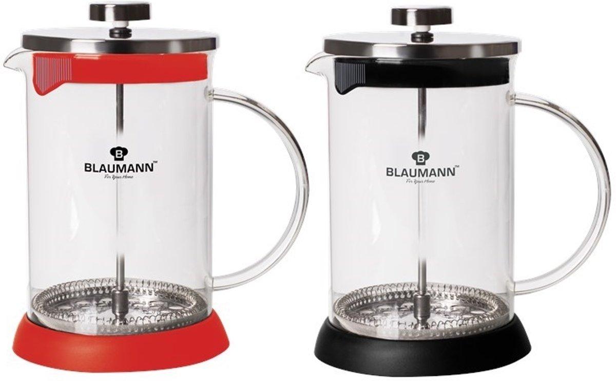 Blaumann Koffie en Thee French Press 350ml RVS/Glas kopen