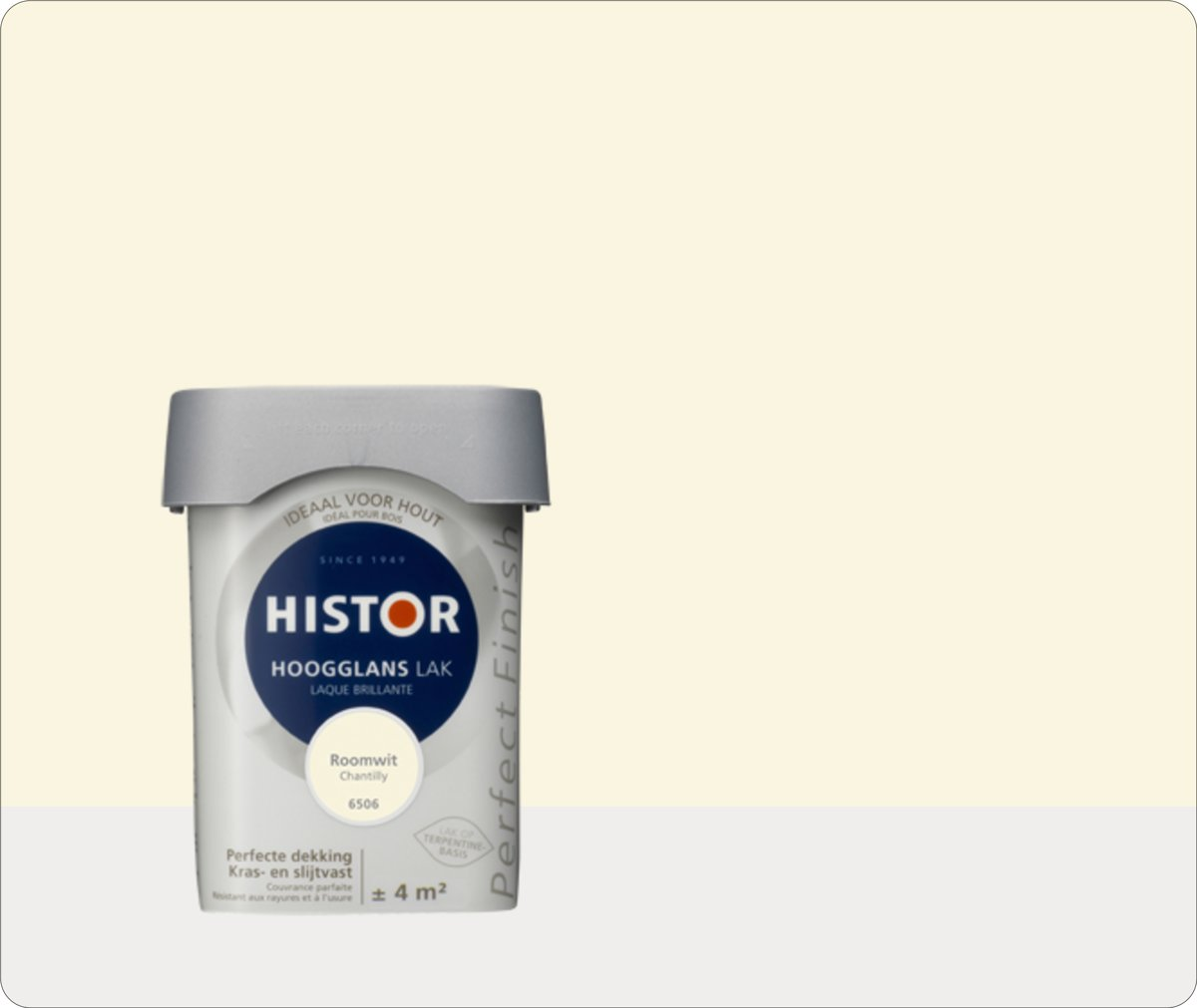 Histor Perfect Finish Lak Hoogglans 0,25 liter - Roomwit