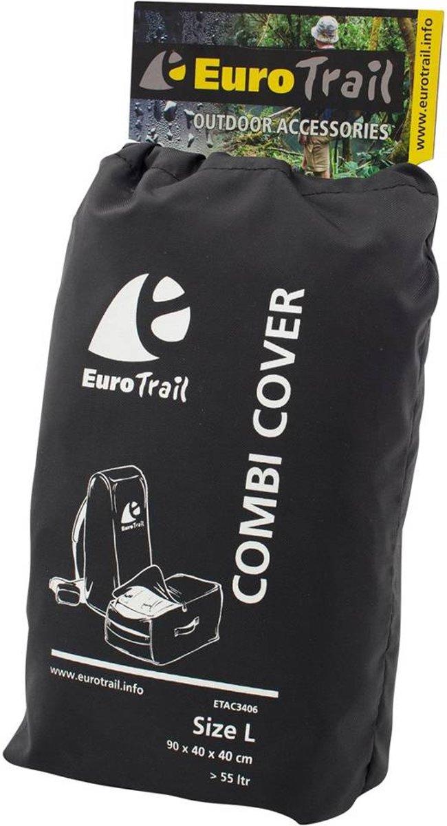 Eurotrail Regenhoes/flightbag voor backpack - 55-80 liter - Zwart kopen