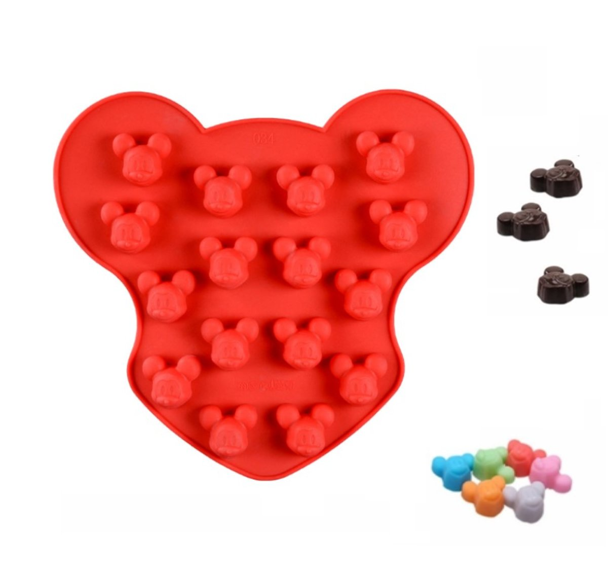 Kitchen Princess - Siliconen Bakvorm Mickey Klein - Chocolade Vorm Mal Tekenfilm Muis kopen