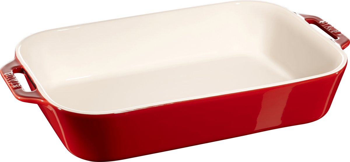 Staub Ovenschaal - Rechthoekig - 34 x 24 cm - Kers kopen