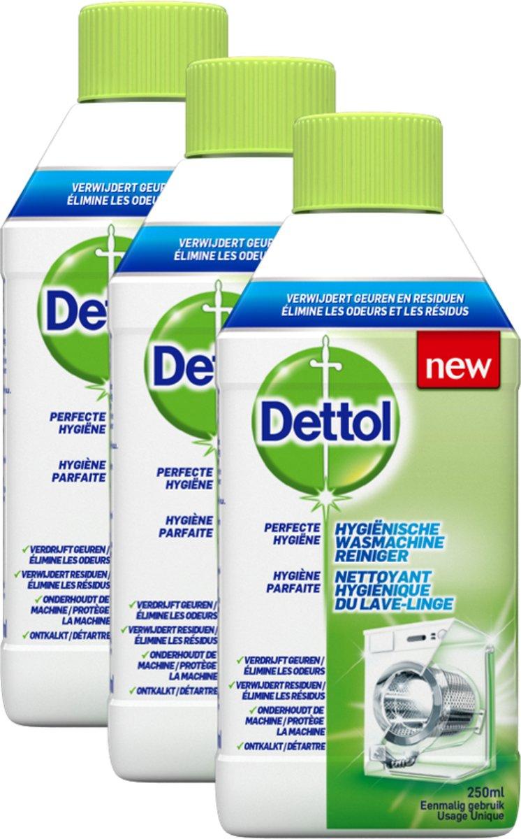 Dettol Wasmachinereiniger - 3 x 250 ml - Grootverpakking kopen