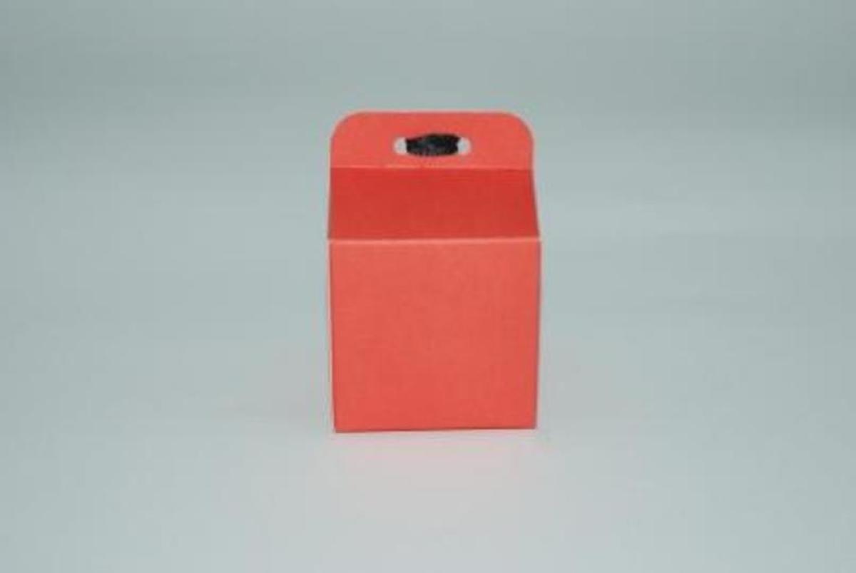 10 doopsuikerdoosjes kubus rood kopen