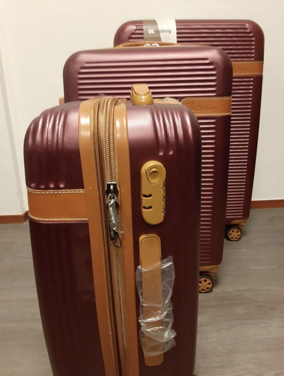 24070b56683 bol.com   DL delong 50cm Handbagage koffer Deluxe ABS 40 Liter