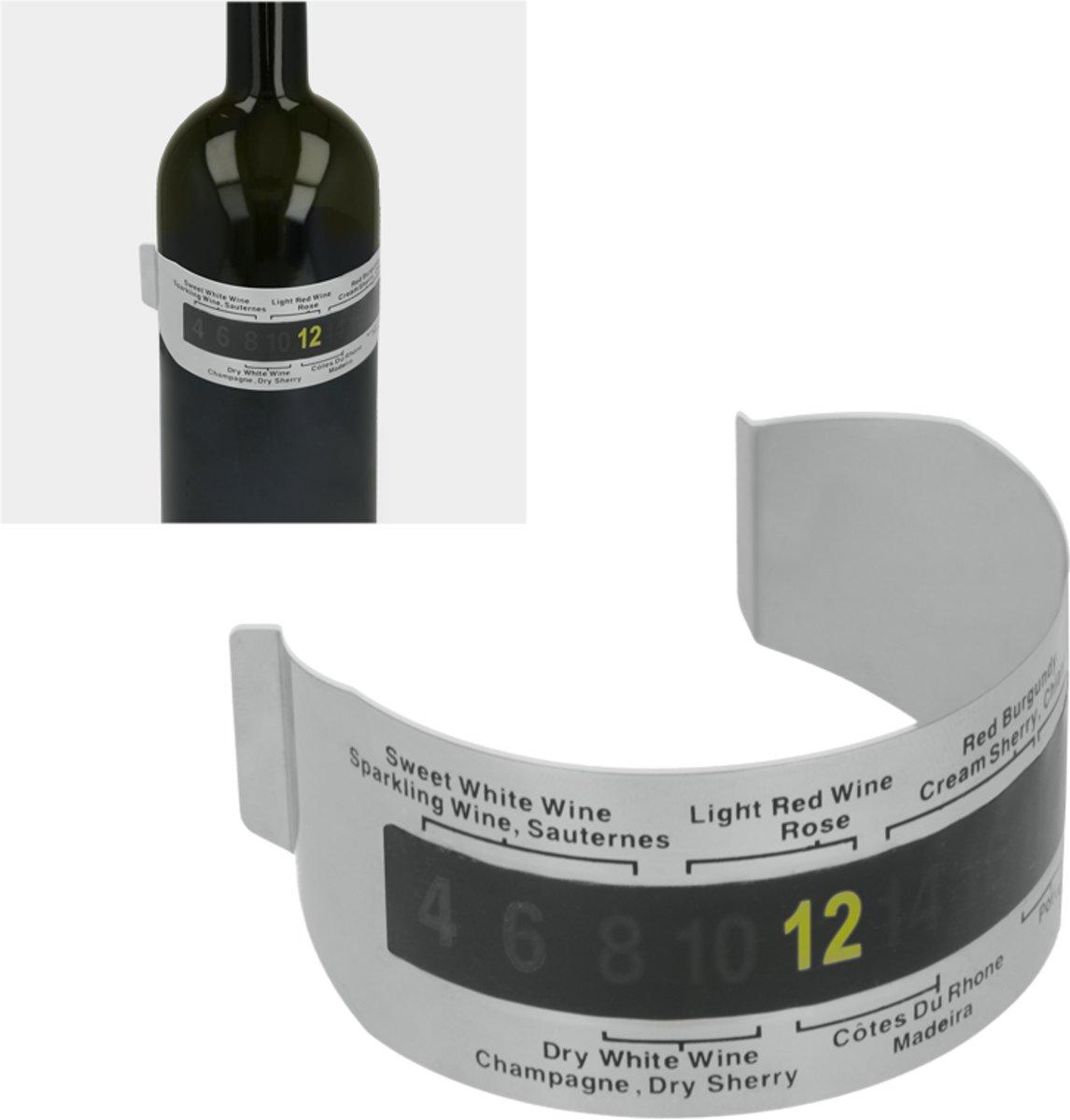 Metaltex - Wijnthermometer - Voor Rond de Fles kopen