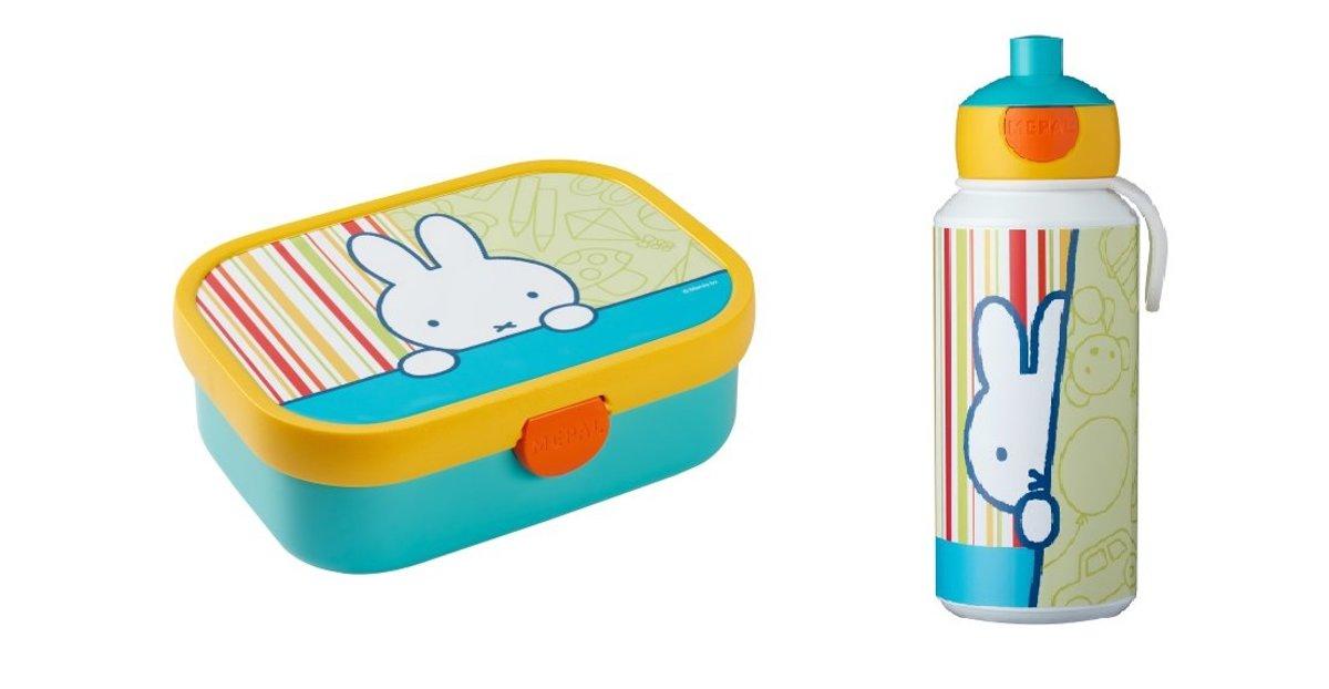 NJNTJE Lunchset Lunchbox + Drinkfles pop up kopen