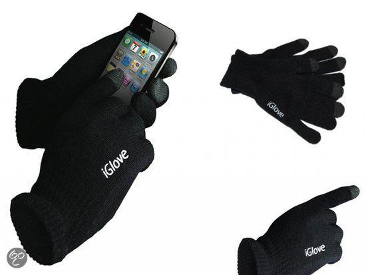 iGlove Handschoenen voor Alcatel One Touch T20, Onmisbaar in de winter - Kleur Zwart kopen