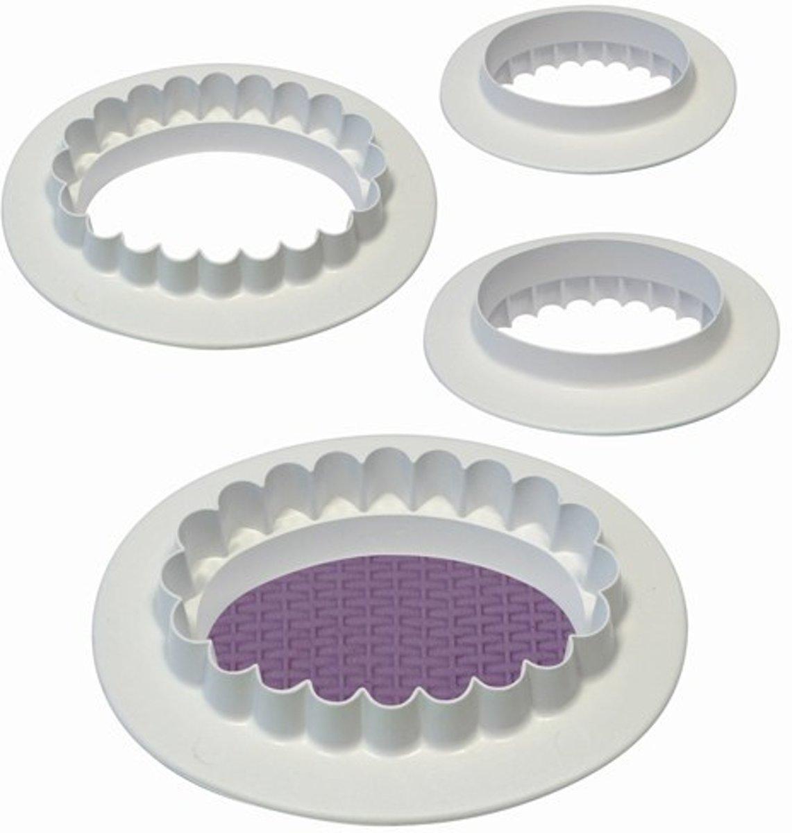 PME Ovalen uitsteker met kartel- en gladde rand set/4 kopen