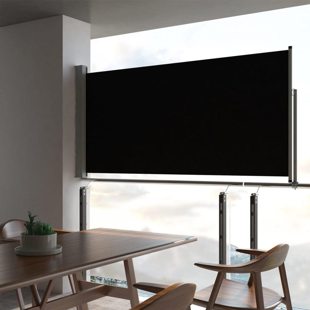 Zijluifel uittrekbaar 120x300 cm zwart (incl. stofdoekjes)
