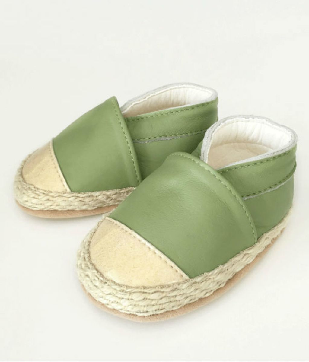 Babyschoentjes-espadrilles-or-olive / 6-9 Mnd erlfM6Je
